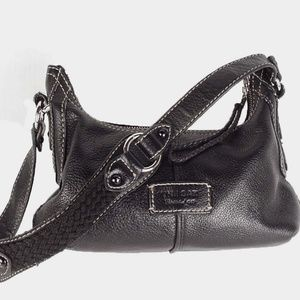 THE SAK Black Pebble Leather Hobo Shoulder Bag